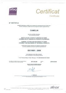 certification-iso-9001 CAMELIN